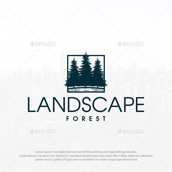 Forest Landscape Logo Template