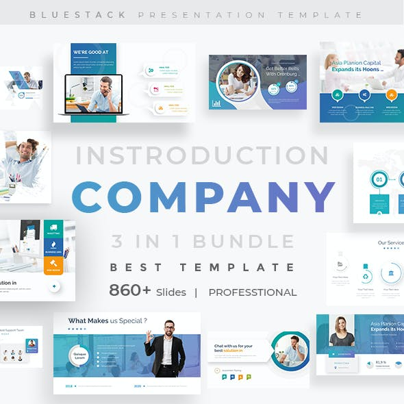 Company Introduction 3 in 1 Pitch Deck Bundle Google Slide Template