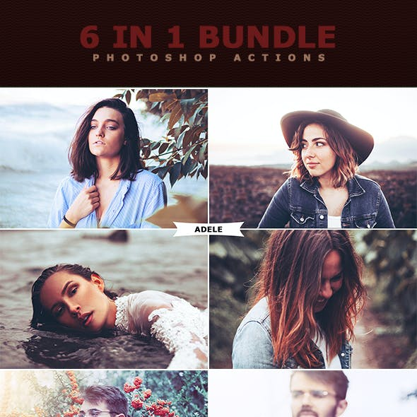 6 IN 1 Photoshop Actions Bundle