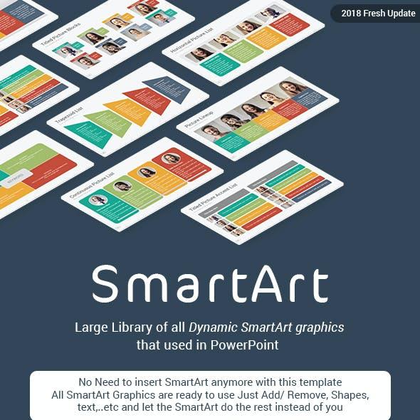 SmartArt Library PowerPoint Presentation Template