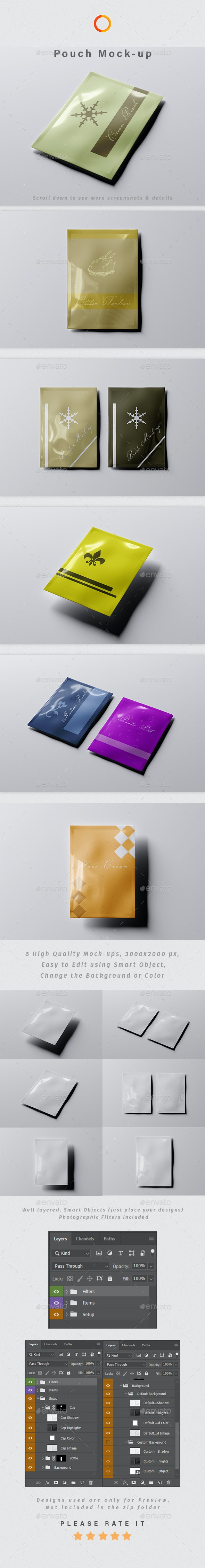 Rectangle Pouch Mock-up - Packaging Product Mock-Ups