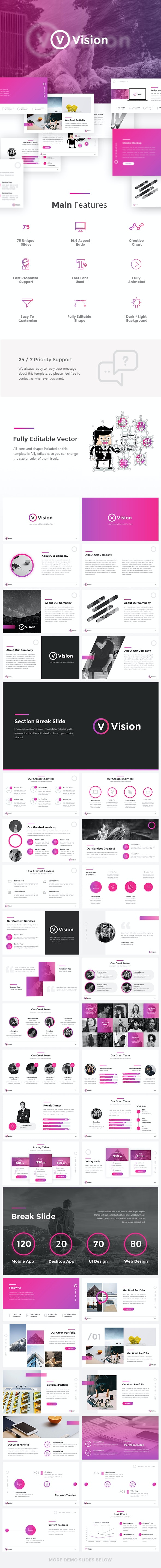 Vision - Creative Google Slides Template - Google Slides Presentation Templates