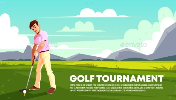 Vector Background of Golf Tournament - Sports/Activity Conceptual