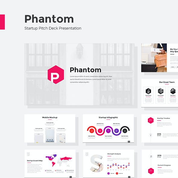 Phantom - StartUp Pitch Deck Powerpoint
