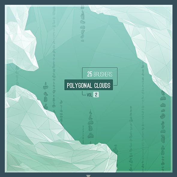 Polygonal Clouds - 25 Brushes. Vol-2
