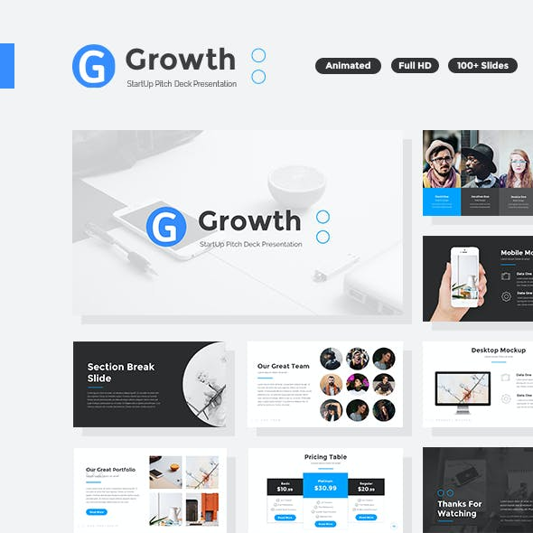 Growth - StartUp Pitch Deck PowerPoint Template