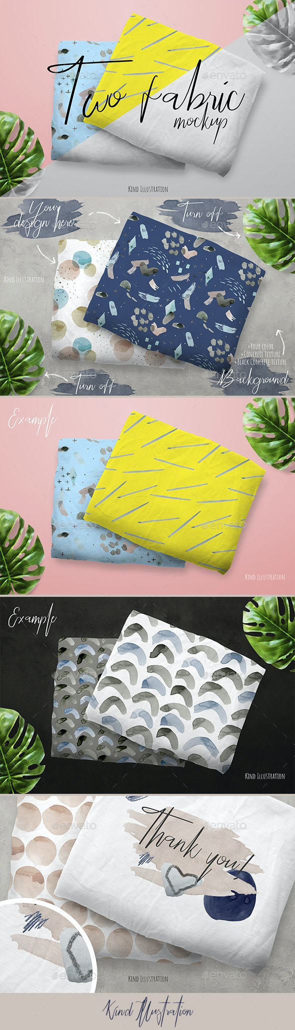 Two Fabric Mock-up - Miscellaneous Apparel