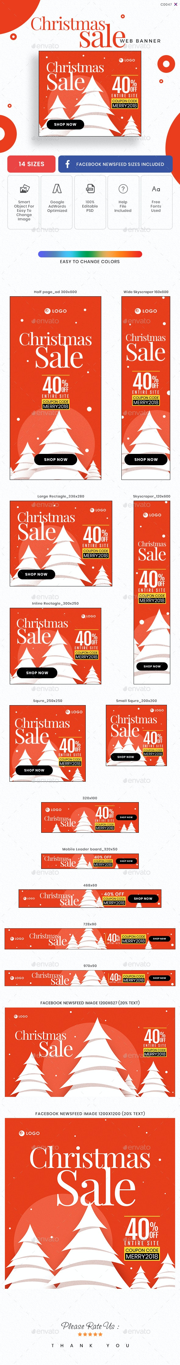 Christmas Sale Banner Set - Banners & Ads Web Elements