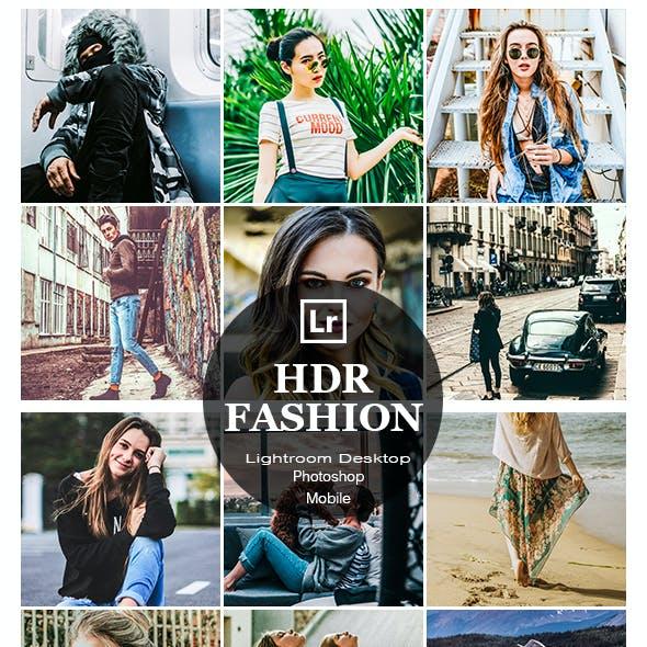 10 HDR Fashion Lightroom Desktop and Mobile Presets