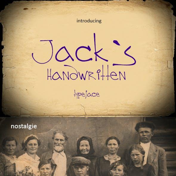 Jack`s Handy Font TTF