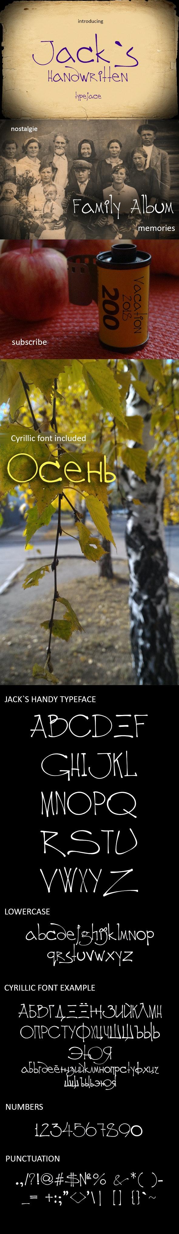 Jack`s Handy Font TTF - Handwriting Fonts