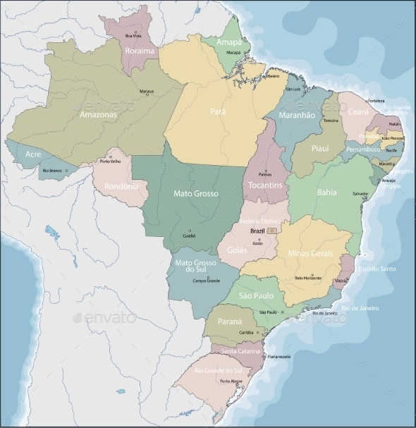 Map of Brazil - Miscellaneous Vectors
