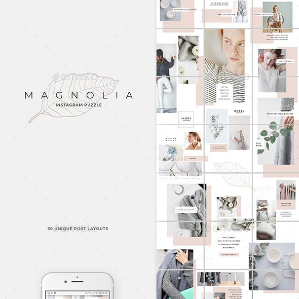 Instagram Puzzle Graphics, Designs & Templates from GraphicRiver