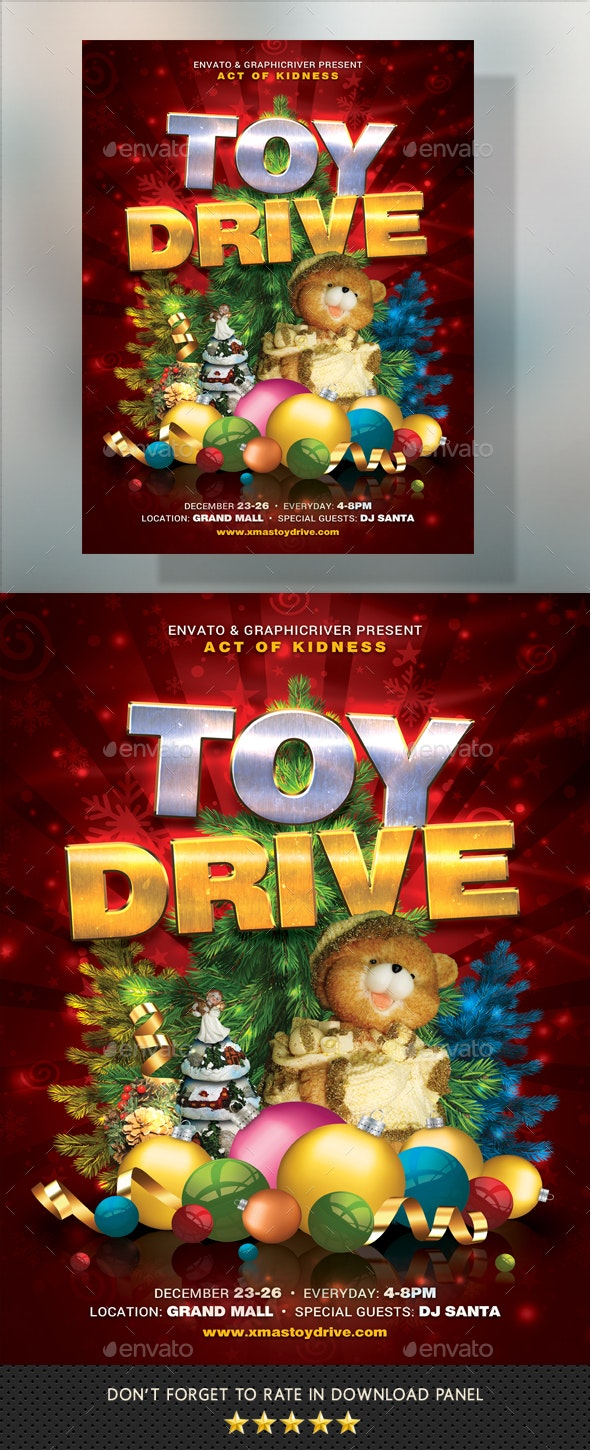 Toy Drive Flyer - Holidays Events