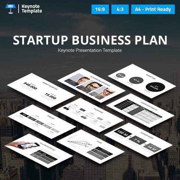 Startup Business Plan Keynote Presentation Template