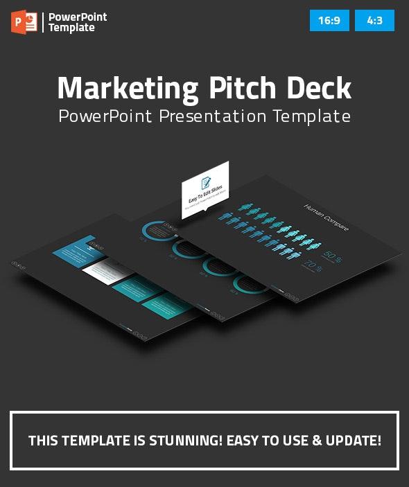 Marketing Pitch Deck PowerPoint Presentation Template - Business PowerPoint Templates
