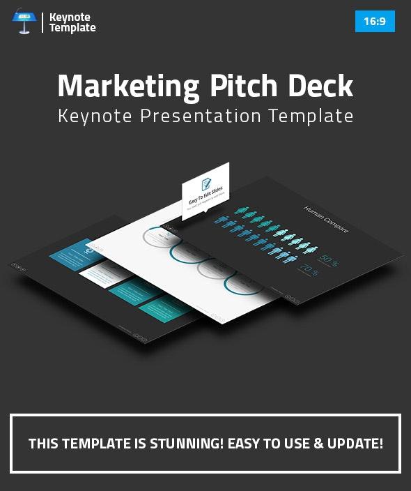 Marketing Pitch Deck Keynote Presentation Template - Business Keynote Templates