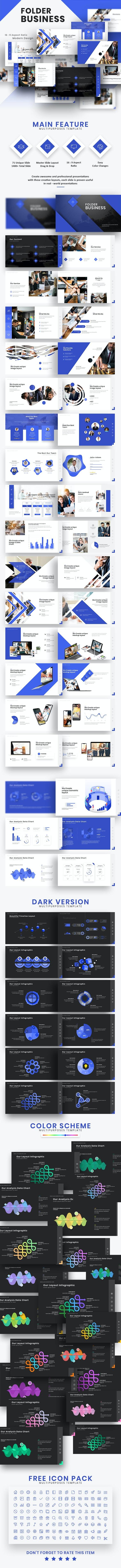 Folder Business Presentation Template - Business PowerPoint Templates