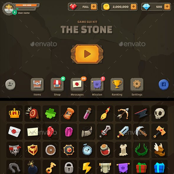 GUI Kit The Stone