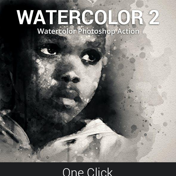 Watercolor 2 Photoshop Action