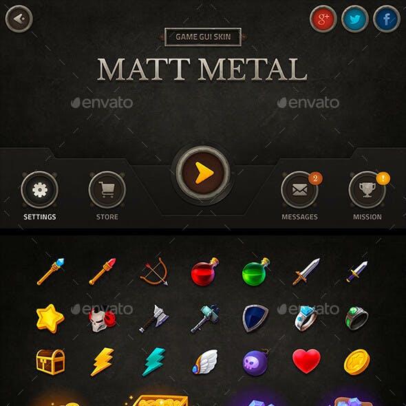 GUI Kit Matt Metal