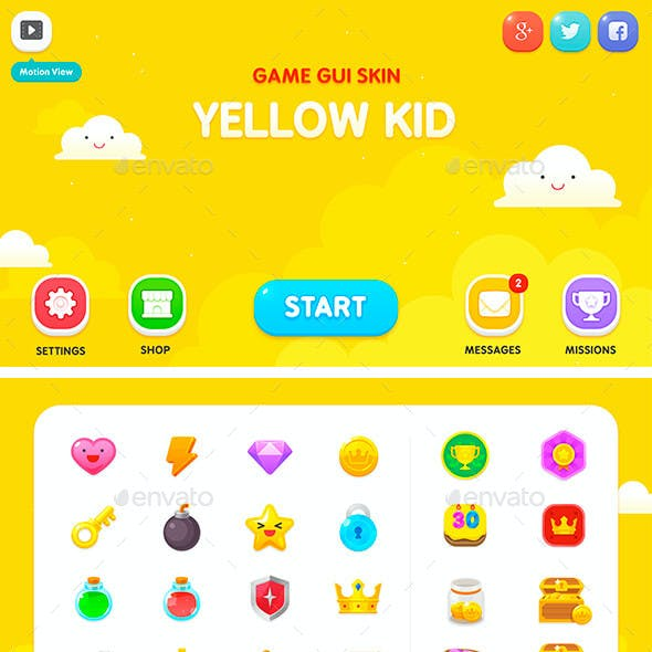 GUI Kit Yellow Kid