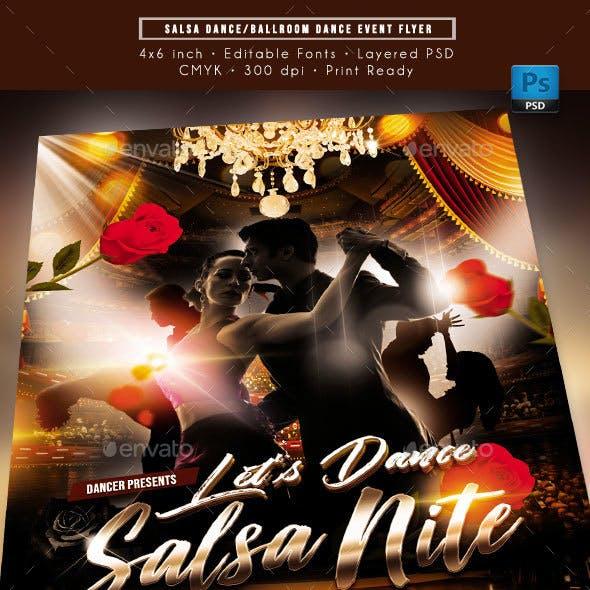 Salsa Dance Event Flyer
