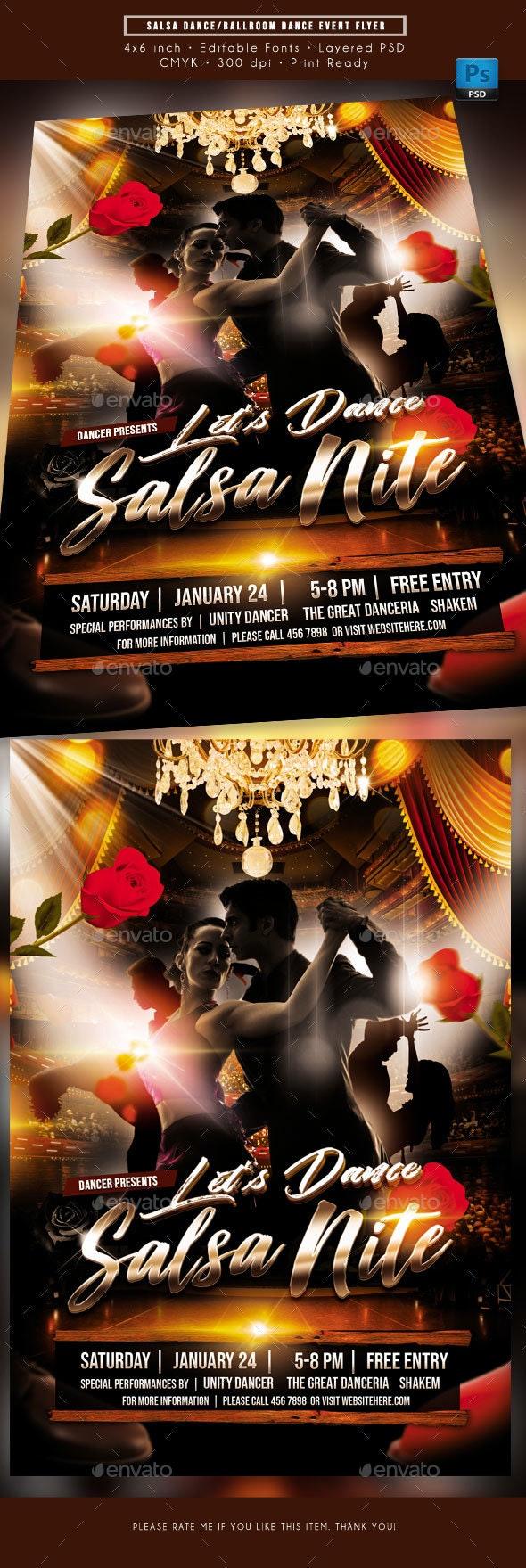 Salsa Dance Event Flyer - Events Flyers