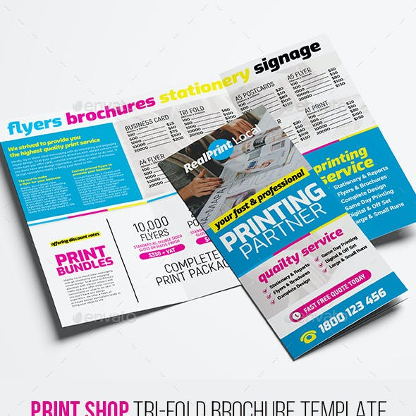 Print Shop Tri-Fold Brochure