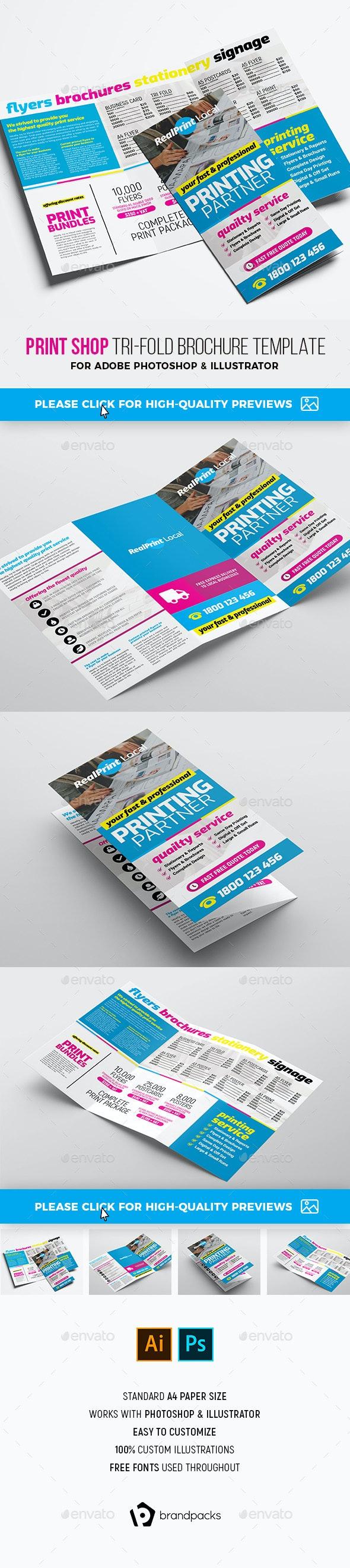 Print Shop Tri-Fold Brochure - Corporate Brochures