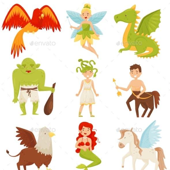 Mythical Fairy Tale Creatures Set, Centaur