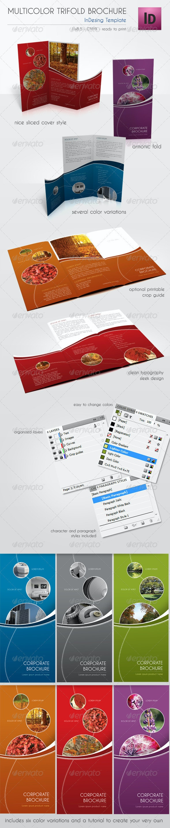 Multicolor Trifold Brochure - Corporate Brochures