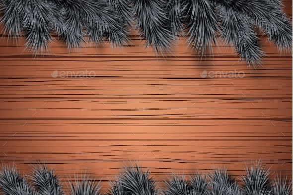 Christmas Wooden Background - Backgrounds Decorative