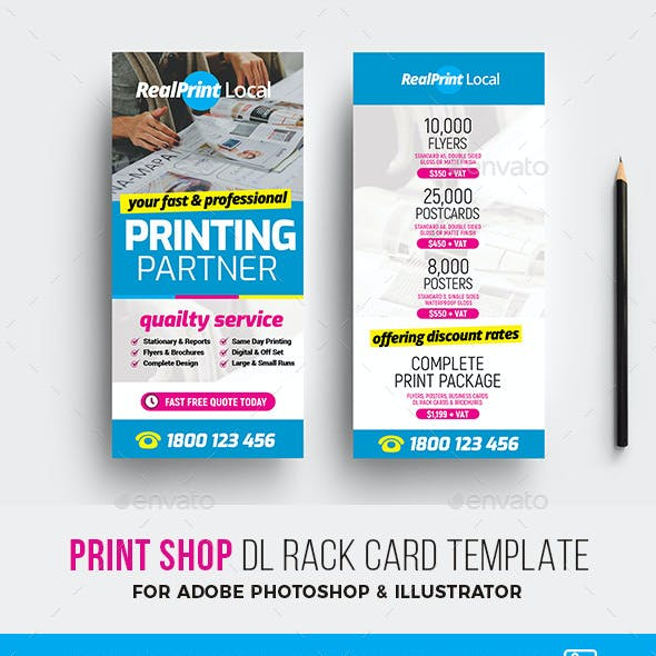 Print Shop DL Rack Card