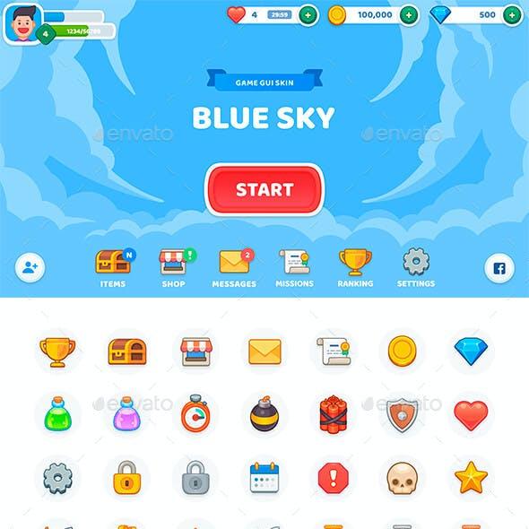 GUI Kit BlueSky