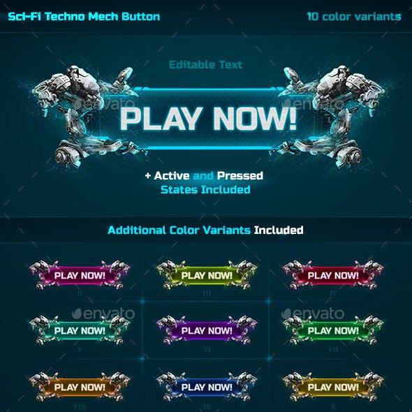 Sci-Fi Techno Mech Button