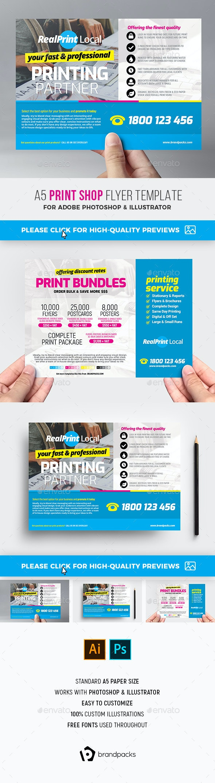 Print Shop Flyer Template - Commerce Flyers