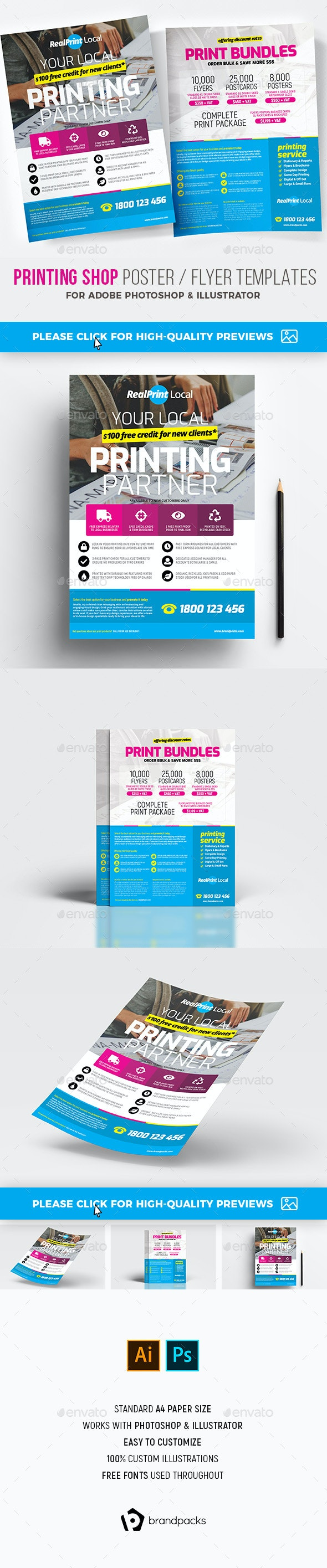 Print Shop Poster / Flyer - Commerce Flyers