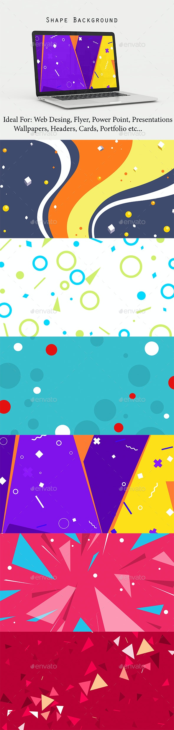 Shape Background - Abstract Backgrounds