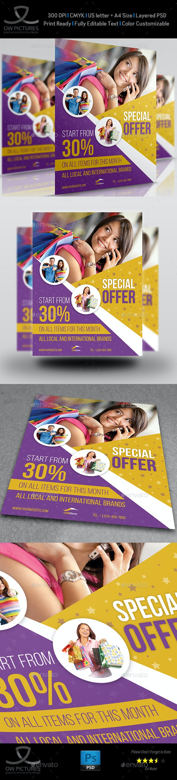 Special Offer Products Flyer Template - Commerce Flyers