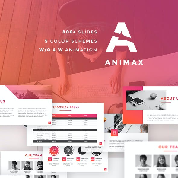 Animax - Finance and Marketing PowerPoint Template