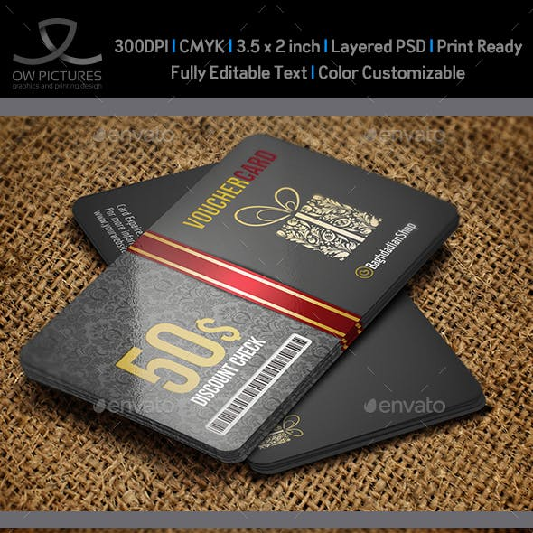 Gift Voucher Card Vol. 9 Template
