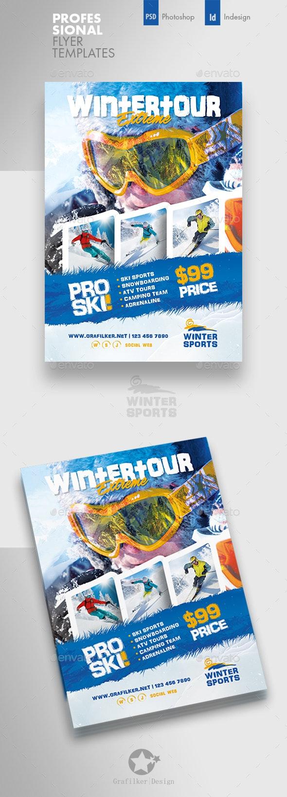 Winter Adventure Flyer Templates - Corporate Flyers