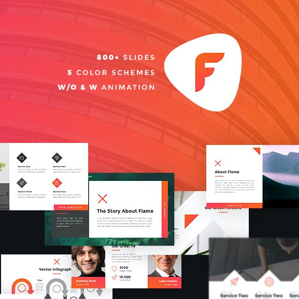 Flame - Creative PowerPoint Template