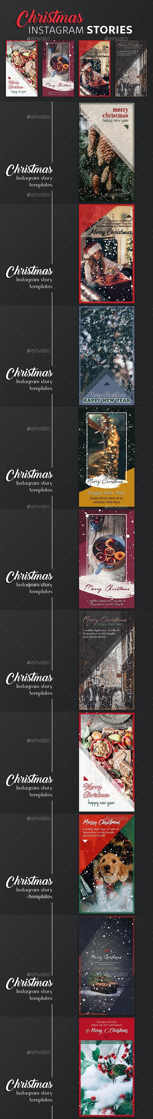 Christmas Instagram Story Templates - Social Media Web Elements
