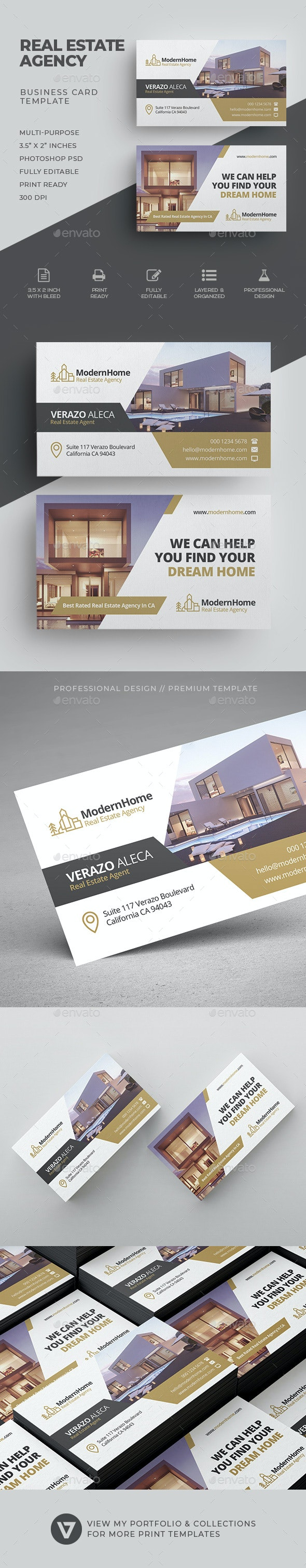 Real Estate Business Card - Industry Specific Business Cards
