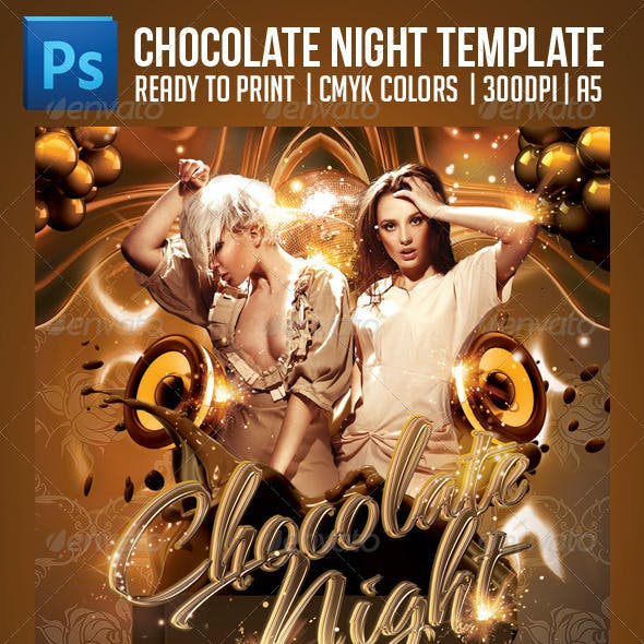Chocolate Nights Party Flyer Template