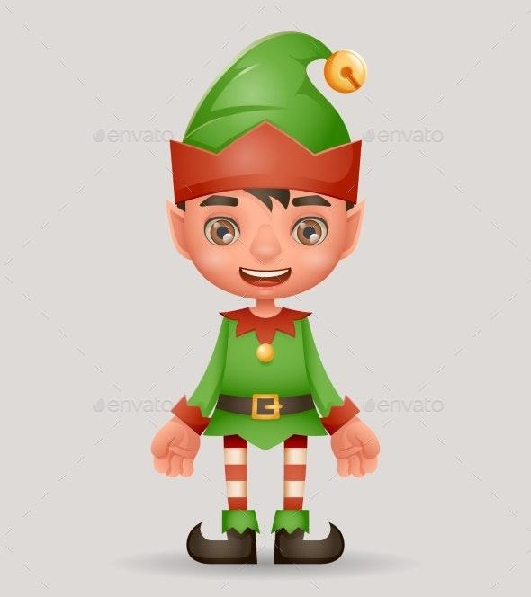 Christmas Elf Boy Santa Claus Helper New Year 3d - Seasons/Holidays Conceptual