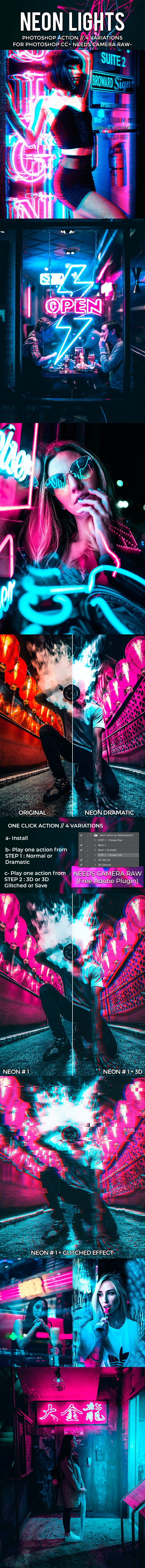 Neon Lights - Photo Effects Actions