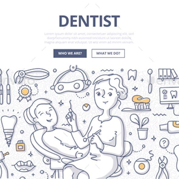 Dentist Doodle Concept